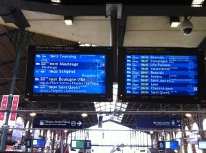 Grandes Lignes op Gare du Nord